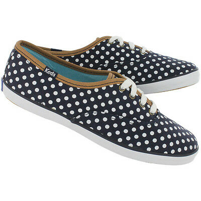 b1fbd5ff15e Keds Women s Champion Oxford Black   Navy Polka Dots Canvas Shoes- Size 9.5  NWB