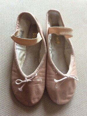BLOCH Ballet Shoes Slippers Flats Leather Pink Size 12.5