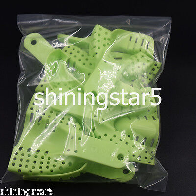 10 Pcs/Set Plastic Dental Disposable Supply Impression Trays Kit With Perforated