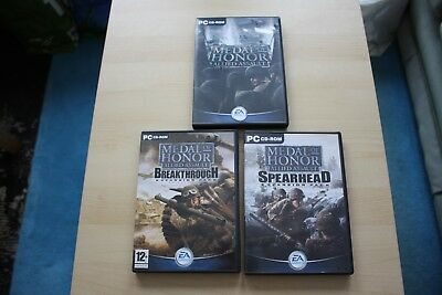 Medal of Honour: Allied Assault +Breakthrough & Spearhead Expansion packs bundle