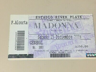 Madonna 2012 Ticket Buenos Aires River Plate Argentina !