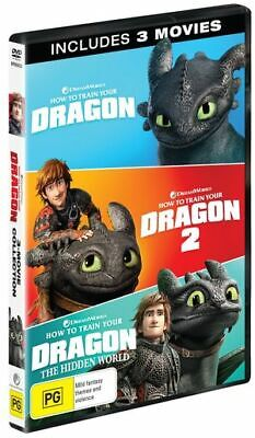 How to Train Your Dragon -3 Movie Collection (DVD,2019) (Region 2,4) New Release