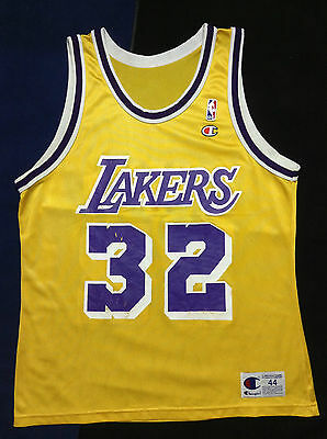 5bd4708d0cb RARE Magic Johnson  32 Los Angeles Lakers Authentic Champion Jersey NBA Size  44