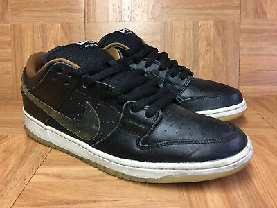 huge selection of 0d4d0 acced VTG🔥 Nike Dunk Low Premium SB QS Black Rain Leather Sz 12 Men s Shoe 504750
