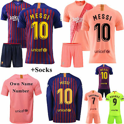 2018-2019 Football Long Short Sleeve Kids Kits 3-12 Years Jerseys Suit+Socks