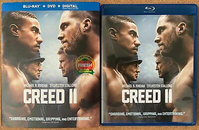 Creed Ii Blu Ray Dvd 2 Disc Set + Slipcover Sleeve Free World Wide Shipping Buy