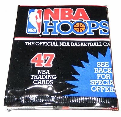 1991/92 Hoops NBA Basketball Series 1 47-Card Rack Pack - Brand New from the Box