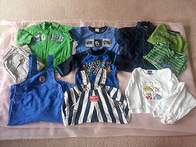 9 X Size 0 Boys 2 X Overalls, Tops & Pants, Pyjamas