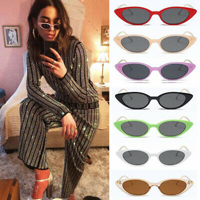 a58522833c10 Womens Fashion Vintage Retro Cat Eye Triangle Sunglasses UV400 Eyewear  Glasses