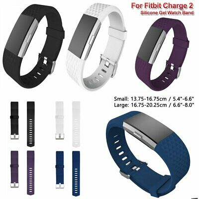 Replacement Wristband Strap Bracelet Buckle Watch Band For Fitbit Charge 2 RT