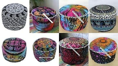 Multi Color Wonderful Design Top Quality Footstool Chair ottoman Pouf Cover Art