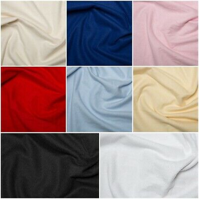 Plain Coloured Wincyette Flannel Brushed 100% Soft Cotton Fabric - 9 cols  Masks