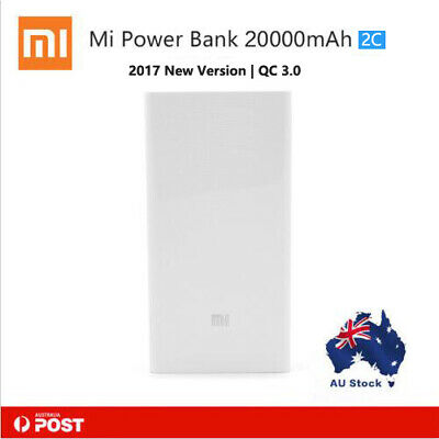 Xiaomi Power Bank 20000mAh 2C with QC3.0 Portable Charger Dual USB battery