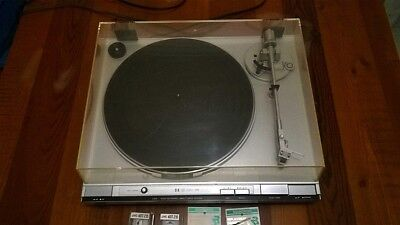 Vintage JVC L-F41 Direct Drive Turntable with Dustcover and 2x Spare Stylus