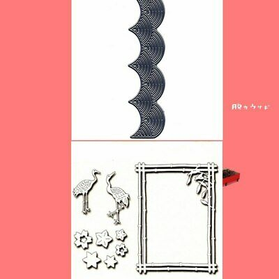 Waves Frame Rectangle Cutting Dies Stencil Scrapbooking Embossing Templates DIY