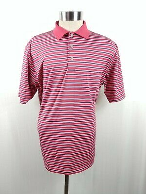 0fa7667a797 Peter Millar Mens Golf Polo Shirt Summer Comfort Striped Short Sleeve Size  Large