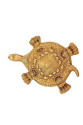 Feng Shui Lucky Tortoise Statue Showpiece Figurine Brass Turtle Hand Carved 1""