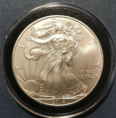 2014 Silver American Eagle Uncirculated $1 Oz .999 Fine Bullion Dollar Ounce