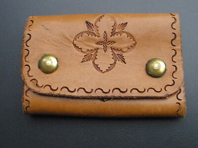 Vintage Leather Key Wallet - Tan - 1970's