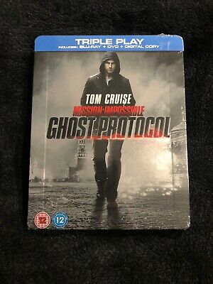 MISSION IMPOSSIBLE GHOST PROTOCOL Blu-ray Steelbook Limited Edition Tom Cruise