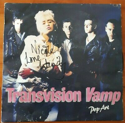 Transvision Vamp Pop Art Lp Autographed By Wendy James