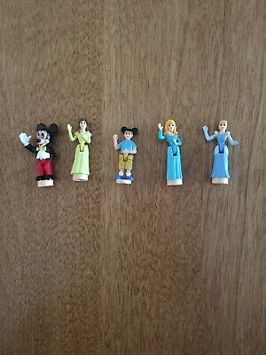 Vintage Polly Pocket Disney FIGURES Mickey Castle Bluebird Lot Of 5 EUC