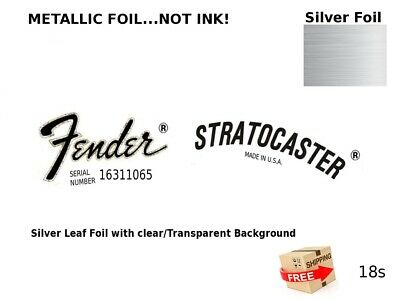 Fender Stratocaster Guitar Headstock Decal Restoration Waterslide Logo Inlay 18s