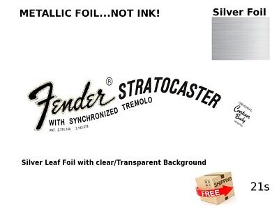 Fender Stratocaster Guitar Headstock Decal Restoration Waterslide Logo 21s
