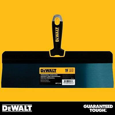 "DEWALT Taping Knife 16"" Premium Blue Steel Big Back Drywall Taping Tool"