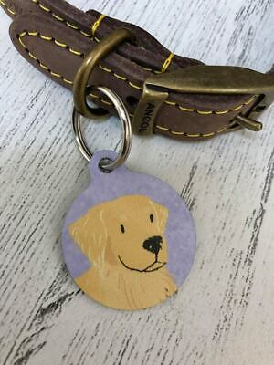 Dog ID tag. Picture personalised, double sided