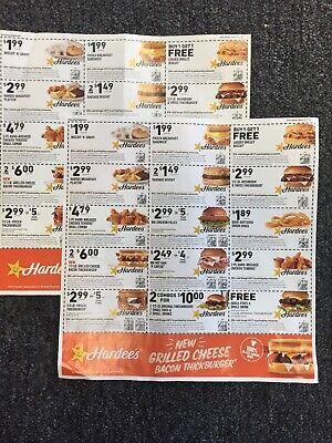 2 - Sheets HARDEES COUPONS Expires 4/8/19
