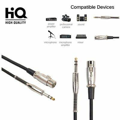 3Pin XLR Microphone Cable Male To Female Balanced Patch Lead Mic OFC - NICKEL FG