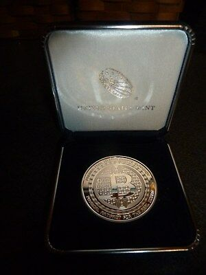 Bitcoin Guardian Commemorative 1 oz .999 Silver  Round in Gift Box W/COA