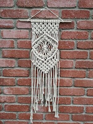 Modern Cotton Medium Macrame wall hanging Handmade Boho Wall Decor Knot