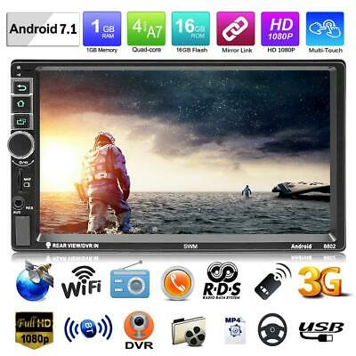 """7"""" 2Din Quad-core Android7.1 Car Stereo MP5 Player GPS BT RDS FM Radio Head Unit"""