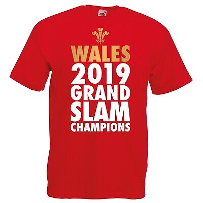 Wales 2019 Grand Slam Champions T-shirt - Six Winners Nations Welsh Rugby Top