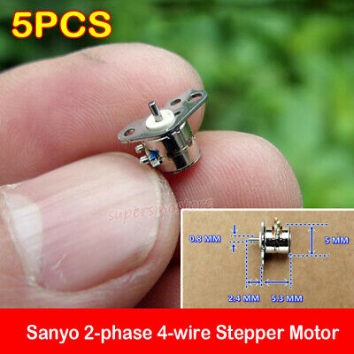 1//5//10pcs 2-Phase 4-Wire Micro Stepper Motor With Long Screw Rod 5*7mm//6*7.5mm