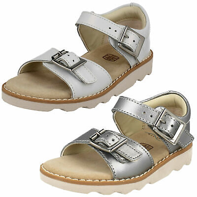 560ad163d6ac CROWN BLOOM GIRLS Clarks Leather Buckle Slingback Casual Summer ...