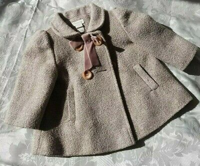 Monsoon Baby Girl Coat Age 3-6 months.  Excellent condition