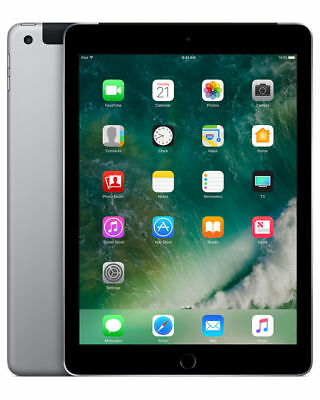 "Apple iPad 5th Gen. 32GB Wi-Fi+Cel. UNLOCKED 9.7"" Space Gray Warranty from Us"