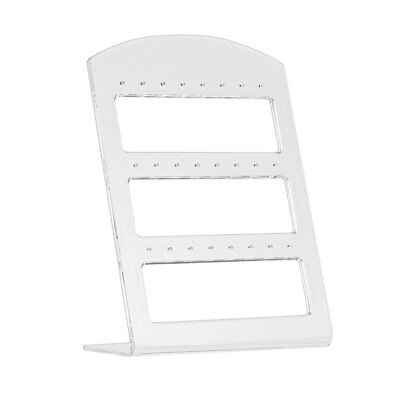 24 Holes Earring Jewelry Show Plastic Display Rack Stand Organizer Holder UH