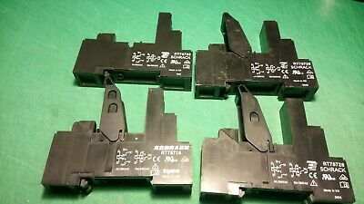 4 x Schrack RT78726 Relay Sockets 8A/250VAC