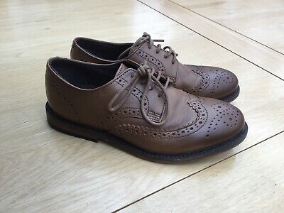 f21f54352 Next Boys Smart Brown Tan Leather Brogues Formal Shoes Size 2 (older Boys)