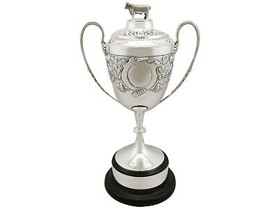Antique Edwardian Sterling Silver Presentation Cup and Cover
