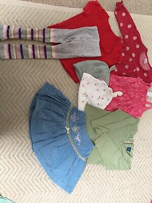Baby girls clothes 6-9 months bundle Skirt Tops Dress Tights Hats