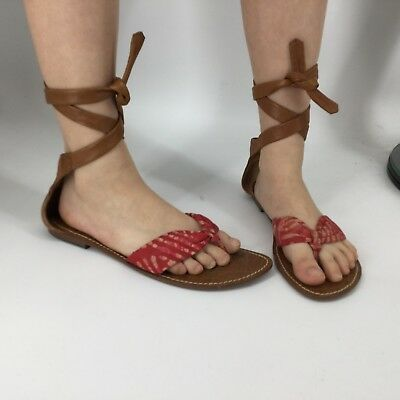 1cb8bc0a0bd Sam Edelman - Women s Size 10 - Gracie Leather Upper Lace Up Sandals  Gladiator