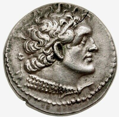 PTOLEMY X Ancient Greek Silver Tetradrachm Coin NGC XF 4/5 4/5