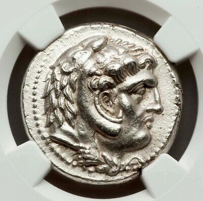 Alexander the Great Silver Greek Tetradrachm NGC CH AU 4/5 4/5