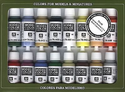 Basic US Army Colors: 16 Paint Set for Model Vehicles & Soldiers (Vallejo 70140)