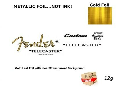 Fender Telecaster Custom Guitar Headstock Decal Restoration Waterslide Logo 12g